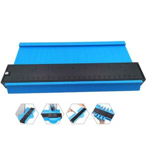Universal Lineal & Konturlehre Duplikator Werkzeug Mehrwinkel-Messwerkzeug 10-Zoll-Profillehre Messlineal, Holzbearbeitung Blau / 25cm