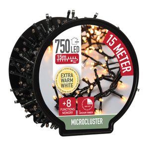Lichterkette auf Trommel - 750 Micro Cluster LED - 15m - extra warmweiß