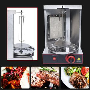Dönergrill Vertikal Multigrill Gas Döner Kebab Maschine Broiler Shawarma Gyros Maschinengrill LPG Vertikal BBQ 220V Grill Maschine
