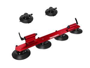 ROCKBROS Fahrradträger Saugnapf Dachgepäckträger für 2 Fahrräder Alu rot