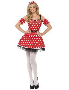 Damen Kostüm süße Comic Maus Karneval Fasching Gr.M