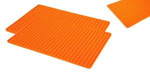 2 Stück Silikon Backunterlage Teigmatte Backmatte Teigunterlage Ausrollmatte