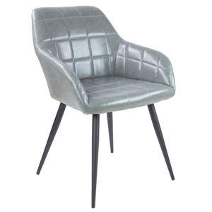 Albatros Esszimmerstuhl/Polsterstuhl Prato, Farbe:Grau, Material Stuhlbezug:Kunstleder
