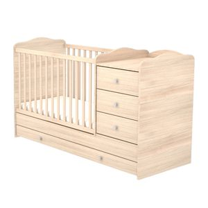 Kombiniertes Kinderbett mit 3 Schubladen (60 x 120) - bernstein