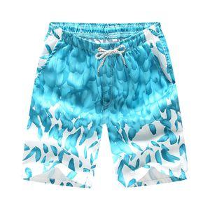 Schnelltrocknende Herren Color Shorts Schwimmen Beach Flower Surfboard Swi LLI90322004BUL3