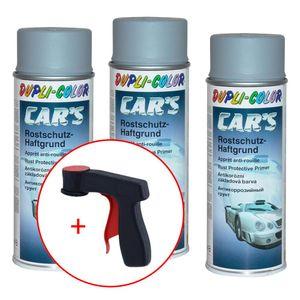 Dupli-Color Car's Rallye Rostschutz-Haftgrund grau 3x 400 ml. + 1 Spraydosen Handgriff