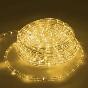 ECD Germany LED Lichtschlauch Lichterschlauch 10 Meter - WarmWeiß 3000K - 36 LEDs/m - Innen/Außsen - IP44 - Lichterkette Lichtband Licht Leucht Dekoration Schlauch Leiste Streifen Strip