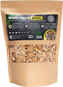 Räucherchips von JSM®   100% Natürliche Smoker-Holzchips für besondere Rauch- und Geschmackserlebnisse   Für alle Grills geeignet   Extra große Packung - 1 kg (Buche)