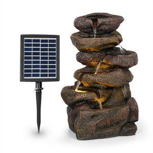 Blumfeldt Savona Solarbrunnen ,inkl. Solarpanel ,Leistung: 2,8 Watt ,Lithium-Ionen-Batterie (ca. 5h Laufzeit) ,LED-Beleuchtung ,Material: Polyresin ,frostbeständig ,für drinnen und draußen geeignet ,Steinoptik