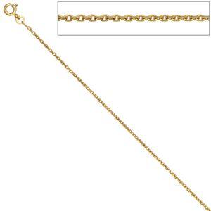 JOBO Ankerkette 333 Gelbgold diamantiert 1,6 mm 60 cm Gold Kette Halskette Federring