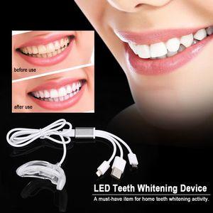 LED Teeth Whitening Device Gel Zahn Bleichen System Portable Dental Whitener USB Charge Home Teeth Care Tool