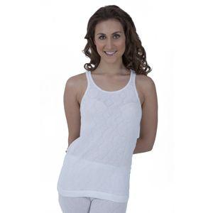Damen Thermo-Unterwäsche, ärmelloses Unterhemd THERM5 (Brustumfang: 86-91 cm (38-40)) (weiß)