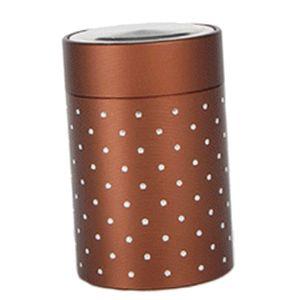 Kaffeedose Teedose Vorratsdose   Vorratsbehälter Metall Tee Kaffeepulver Braun 4,5 x 7 cm