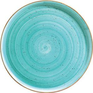 Bonna Premium Porcelain AAQGRM32PZ Aura Aqua Plate Pizzateller, 32.5cm, Porzellan, türkis, 1 Stück