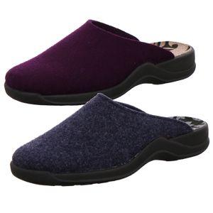 Rohde 2309 Vaasa-D Schuhe Damen Hausschuhe Pantoffeln Weite G , Größe:40 EU, Farbe:Blau