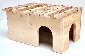 Mega XXL Nagerhaus für Meerschweinchen und Kaninchen 50x25x33cm