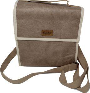 KeMar Kitchenware Lunchbox Tasche aus PE Papier | Sand Braun | Wasserabweisend | Vegan | Recycelt | Nachhaltig