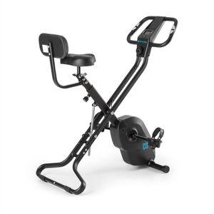 CAPITAL SPORTS Azura X2 X-Bike - Ergometer, Pulsmesser, 8-stufiger Widerstand, 7 Stufen höhenverstellbar, Rückenlehne & Seitenhalterung, 4kg Schwungmasse  - max.120 kg schwarz