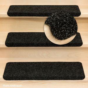 Metzker Stufenmatten Treppenmatten Ramon® Rechteckig Anthrazit 15 Stück