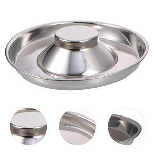 Welpe Slow Feed Bowl Edelstahl Metall Dog Bowl Feeding Bowl (Silber)