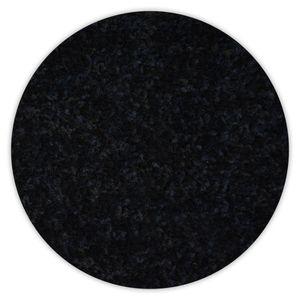 Einfarbiger Teppich Trendy für Zimmer, Wohnzimmer, Schlafzimmer, Teppichboden Auslegware, Verschiedene Größen Kreis 150 cm schwarz