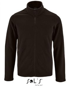 Herren Plain Fleece Jacket Norman - Farbe: Black - Größe: XXL