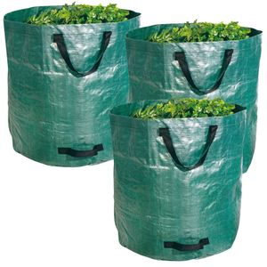 Gartenabfallsack Stabil Gartensack faltbar 272 Liter 3 Stück