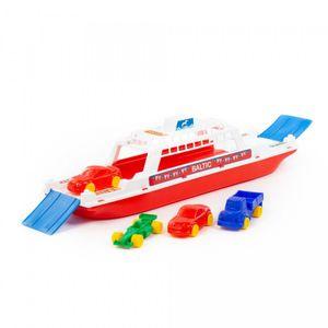 Polesie Fähre Schiff mit 4 Autos und beweglichen Rampen