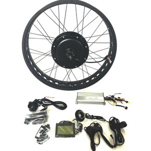 """Theebikemotor 48V1000W Elektro-Fahrrad Umbausatz + LCD + Reifen + Scheibenbremse 26 x 4.0"""" Hinterrad"""