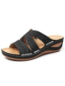 Abtel Damen Muller Schuhe Keilen High Heels Freizeitschuhe,Farbe:Schwarz,Größe:38