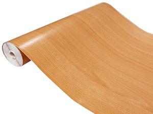 Klebefolie Möbelfolie in Holzoptik Holzfolie Deko-Folien Holzdekor Selbstklebefolie Holz-Optik Selbstklebend Holz-Maserung 90x100 cm Rotbuche