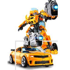 Transformers Bumblebee Roboter Flim Figur Auto Actionsfigur Spielzeug Verwandelndes Spielzeug 2 in 1 Auto Modell Charakterlegierung