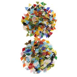 600 pcs Glas Mosaiksteine zum Mosaik Basteln für Wände Deko DIY Handwerk