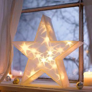 3D-Stern LED Weihnachtsstern Weihnachtsdeko Beleuchtet Adventsstern 36 cm