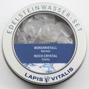 Bergkristall Wassersteine (Klarheit) Lapis Vitalis Edelstein Wasser Set
