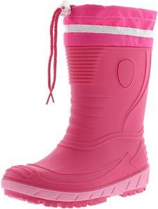 G&G Kinder Mädchen Gummistiefel Regenschuhe Nitrilgummi pink/rosa, Größe:30, Farbe:Pink