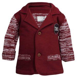 Design Baby Jacke Gr. 80 / Ducky Beau / Mädchen Jungen Rot Weiss Weste