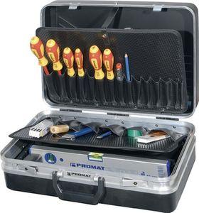 PROMAT Werkzeugsortiment 46tlg. i.Schalenkoffer ABS-Kunststoff