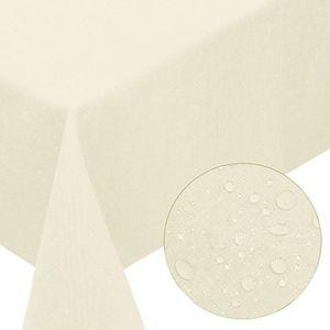 Melody® Premium Tischdecke Leinen-Optik abwaschbar mit Fleckschutz 130x220cm eckig champagner