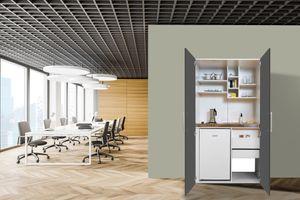 respekta Schrankküche Küche Miniküche Küchenzeile Single Küchenblock weiß grau