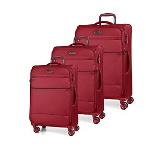March Kofferset Easy 3-tlg. Red Koffer mit 4 Rollen Kofferset