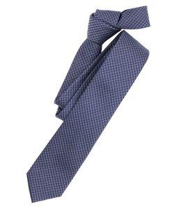 Venti Krawatte Dunkelblau Kariert 100% Seide 6cm Breit Schmale Form Fleckenabweisend