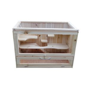 Nagerkäfig Kleintierstall Mäusekäfig Holz verschiedene Etagen Hamsterkäfig