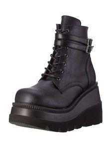 Abtel Damen High-Top Casual Single Schuhe Plateauschuhe Atmungsaktive Stiefel,Farbe: Schwarz,Größe:39