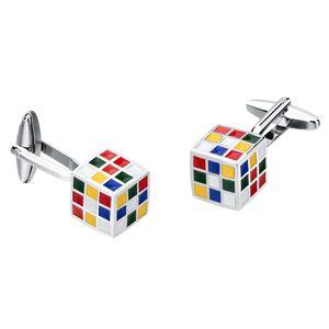2pcs Herrenmode Manschettenknöpfe Bunte  Cube Shirt Manschettenknöpfe Hochzeitsschmuck
