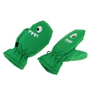 Kinder Skihandschuhe Fäustlinge Winterhandschuhe Schnee Handschuhe Farbe Grün S