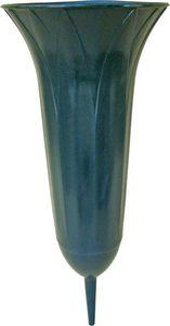 Grabvase Blatt grün, Länge:31 cm