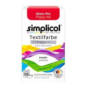 Simplicol Textilfarbe expert für kreatives Färben in Mohn Rot