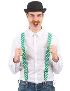 Kleeblatt Hosenträger St. Patrick's Day grün-weiss