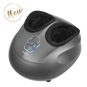 NAIPO Fußmassagegerät Elektrisch Fußmassage Gerät mit Wärmefunktion Shiatsu Fuss Massage Kneten Klopf Füße mit Rollen & Luftkompression gegen müde Füße und Beine für Zuhause Büro